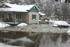 Inondations dans Duberger/Les Saules: arrivée de la pelle flottante mercredi