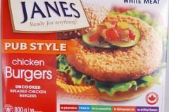 Rappel de Burgers de poulet Style Pub de marque Janes