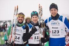 Maxime Leboeuf et Lovisa Modig triomphent au triathlon d'hiver