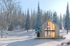 SkiBUM propose des chalets scandinaves en nature