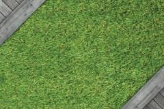 La terrasse en gazon synthétique étend sa popularité